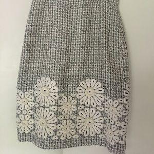 Oscar De La Renta tweed pencil skirt size 10